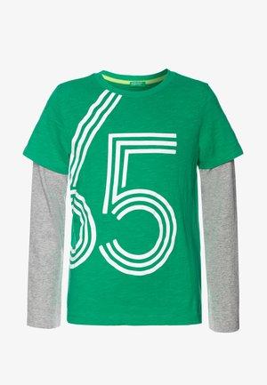 T-shirt à manches longues - green/grey