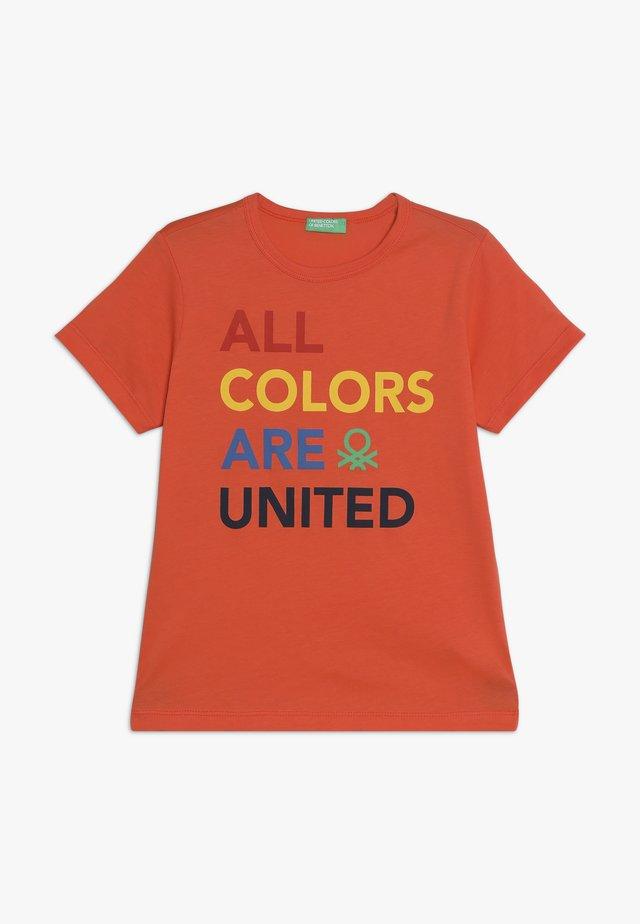 T-shirt med print - orange