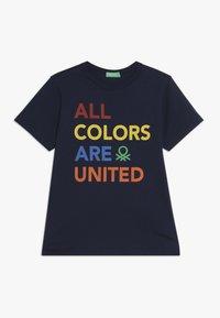Benetton - Camiseta estampada - dark blue - 0