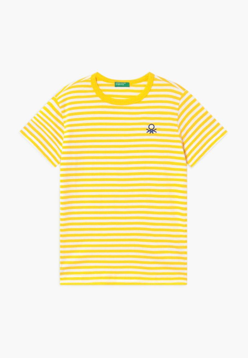 Benetton - T-shirt z nadrukiem - yellow