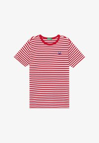 Benetton - T-shirt z nadrukiem - red - 2