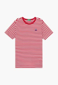 Benetton - T-shirt z nadrukiem - red - 0