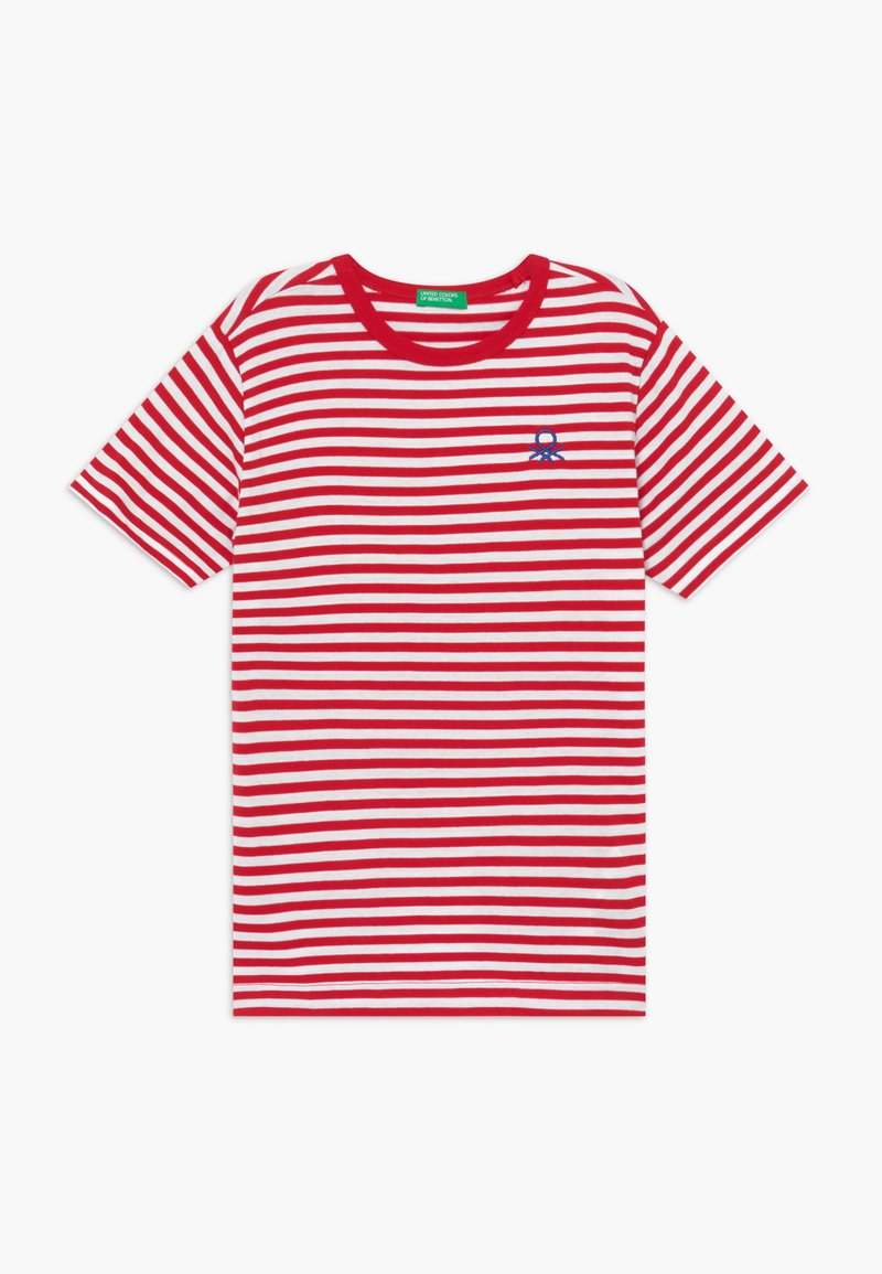 Benetton - T-shirt z nadrukiem - red