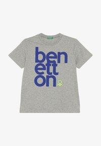 Benetton - Triko spotiskem - grey - 2