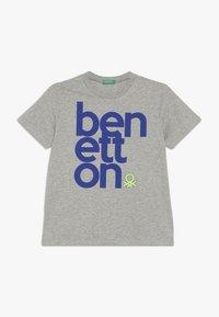 Benetton - Triko spotiskem - grey - 0