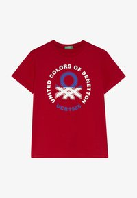 Benetton - T-shirt con stampa - red - 2