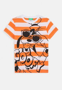 Benetton - T-shirt print - orange/off-white - 0