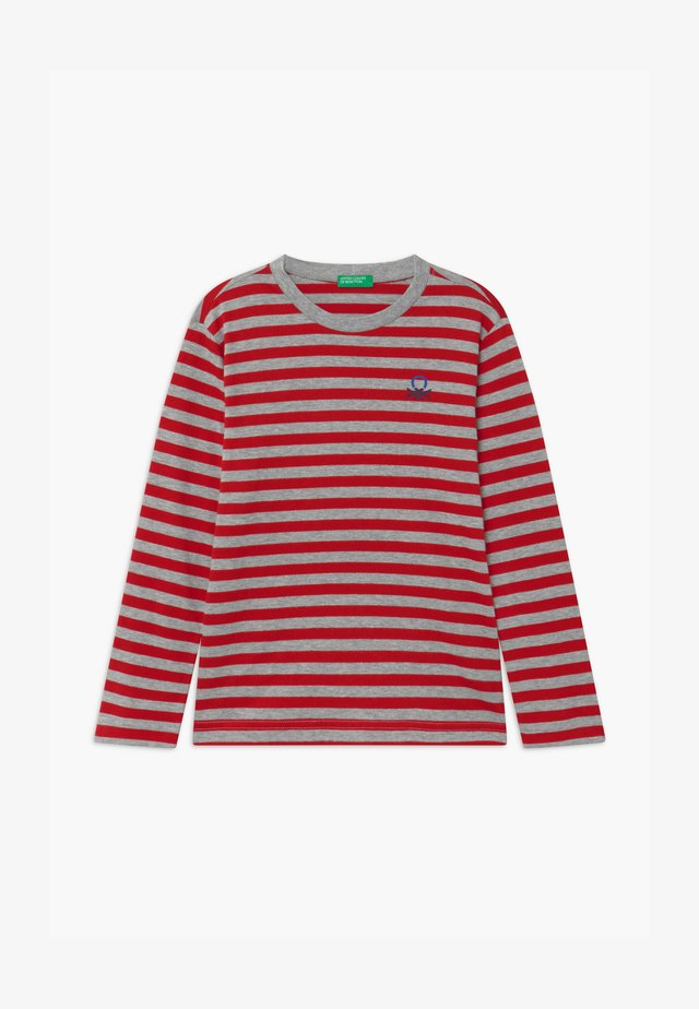 FUNZIONE BOY - Long sleeved top - red/grey