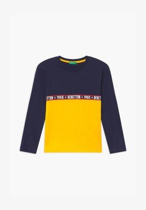 BASIC BOY - Top sdlouhým rukávem - dark blue/yellow