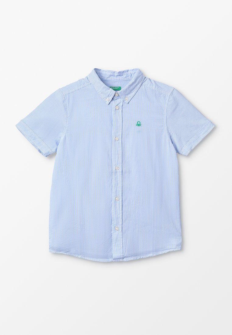 Benetton - Košile - light blue/white/off white