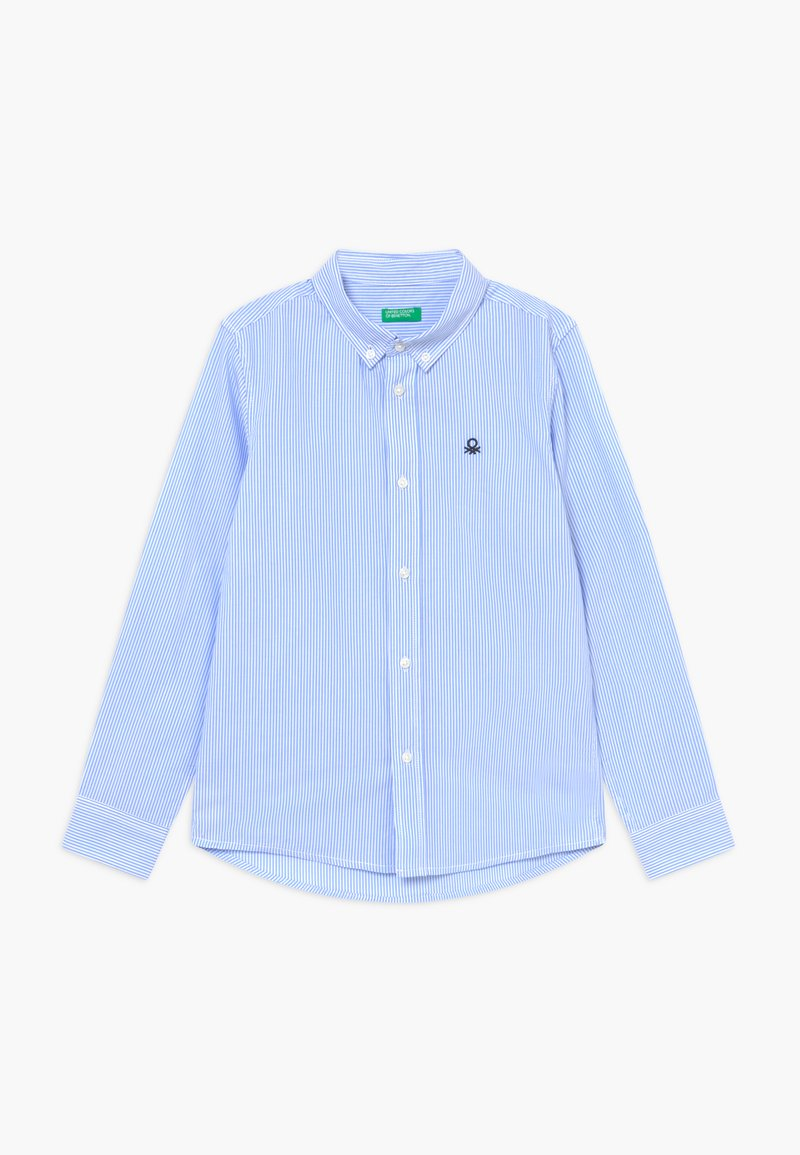 Benetton - Košile - white/light blue