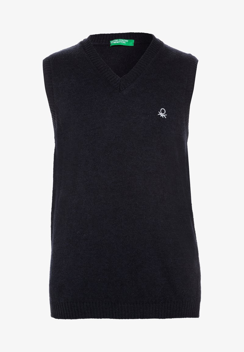 Benetton - V NECK - Jumper - dark blue