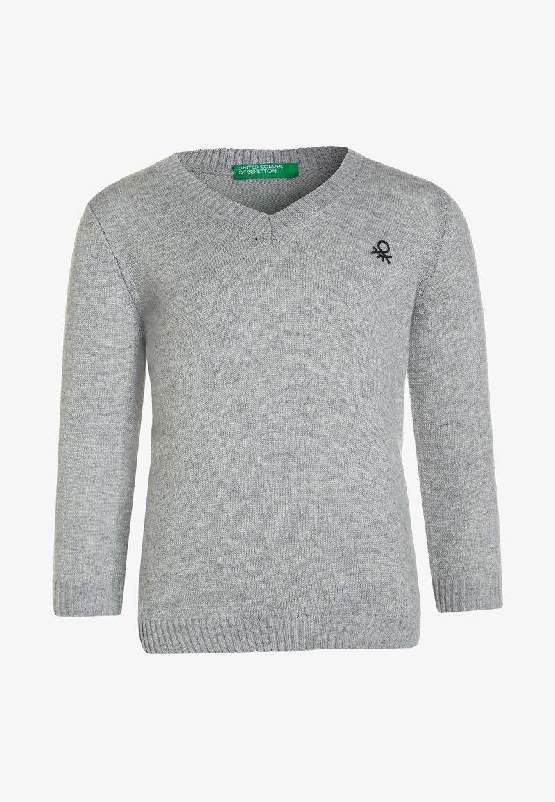 Benetton - V NECK BOY  - Jumper - grey