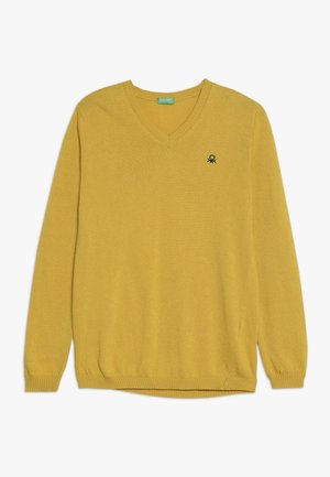 V NECK  - Jumper - yellow