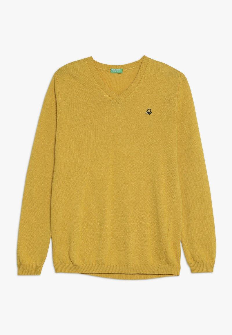 Benetton - V NECK  - Jumper - yellow