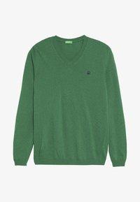 Benetton - V NECK  - Sweter - green - 2