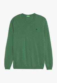 Benetton - V NECK  - Sweter - green - 0
