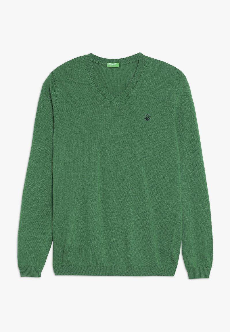 Benetton - V NECK  - Sweter - green