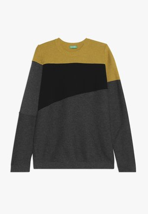 Maglione - mustard yellow/grey