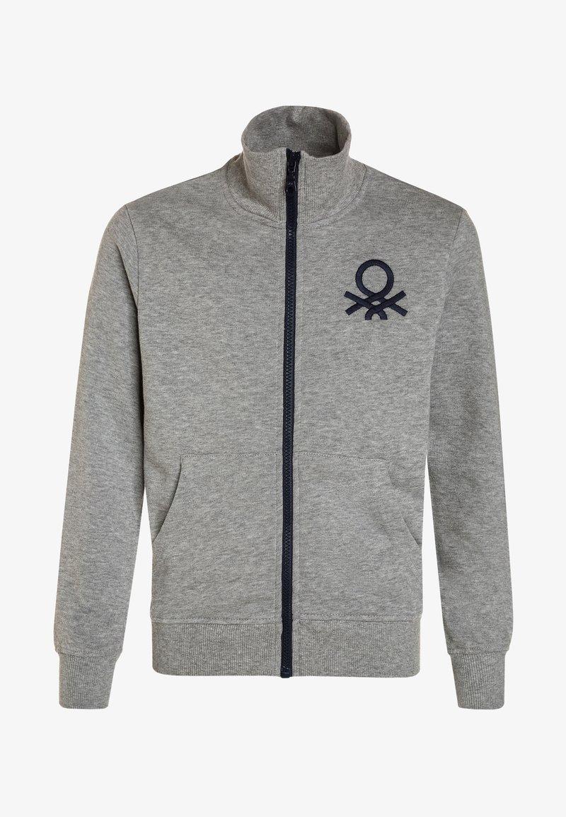Benetton - Zip-up hoodie - light grey