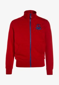 Benetton - Zip-up hoodie - red - 0