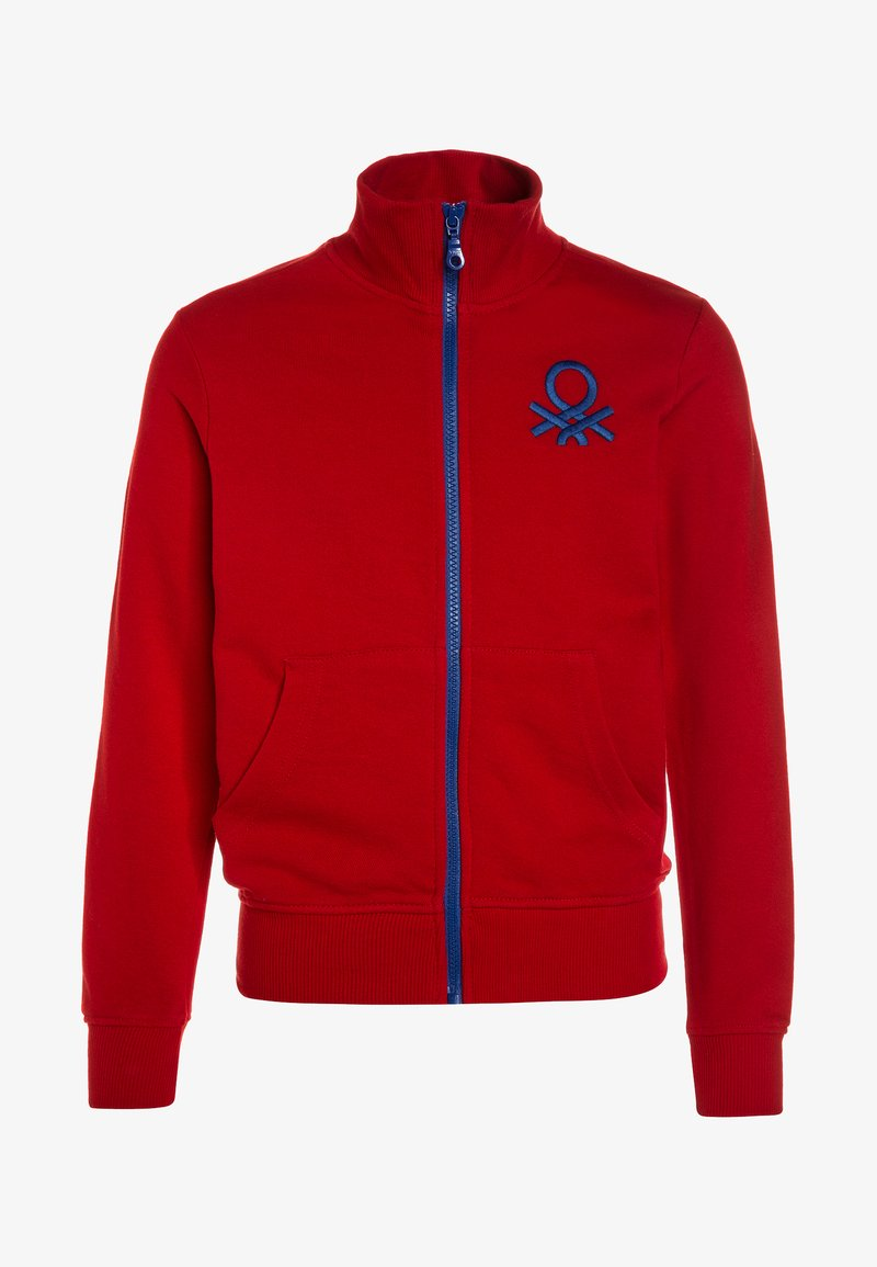 Benetton - Zip-up hoodie - red