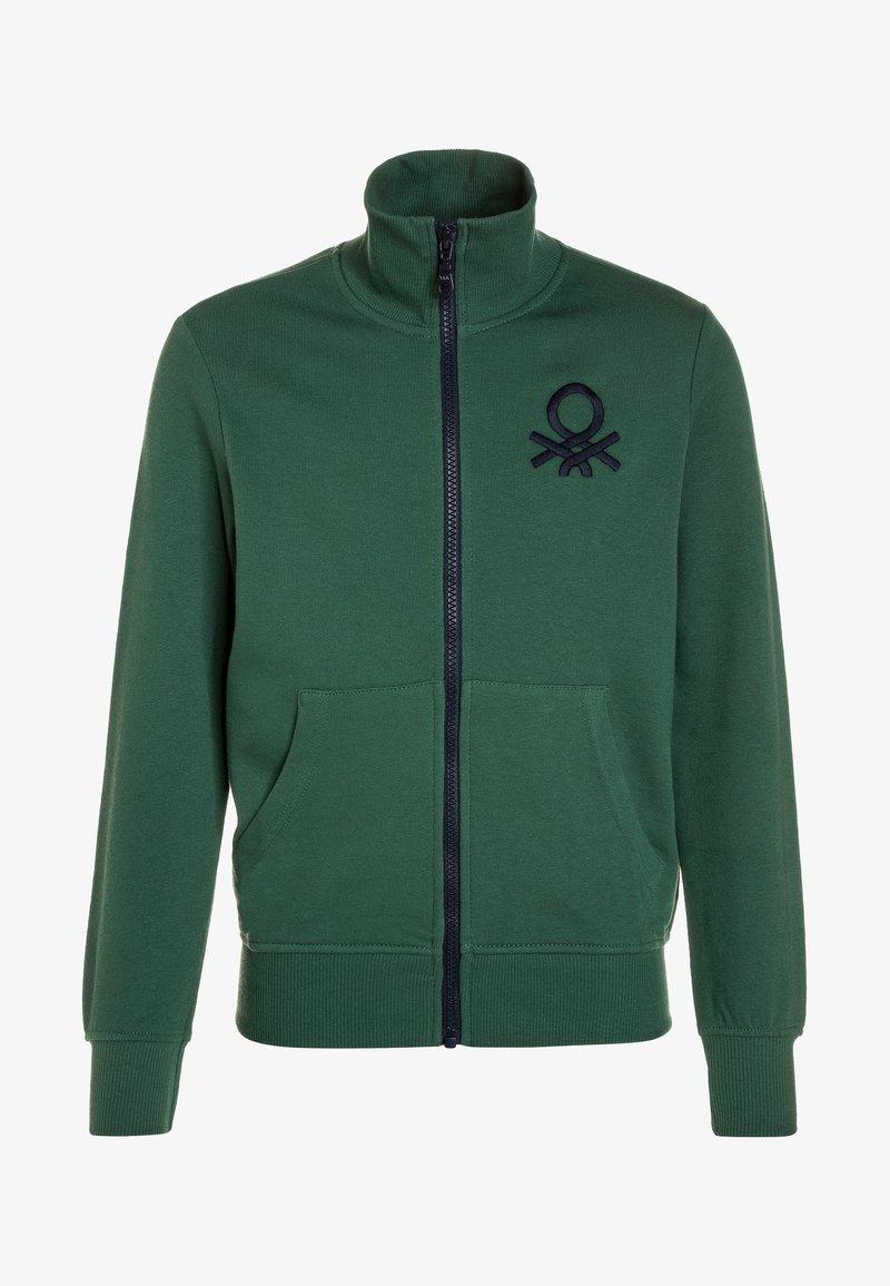 Benetton - Zip-up hoodie - dark green