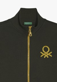 Benetton - Felpa aperta - khaki - 4