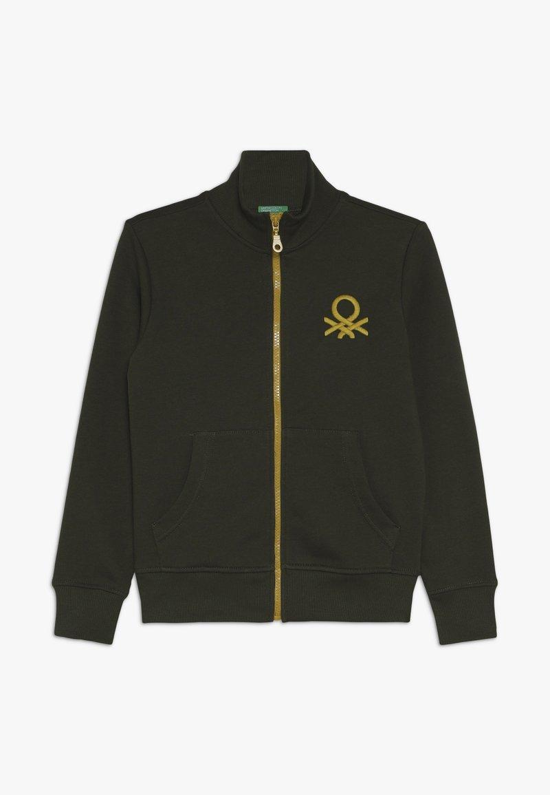 Benetton - Zip-up hoodie - khaki