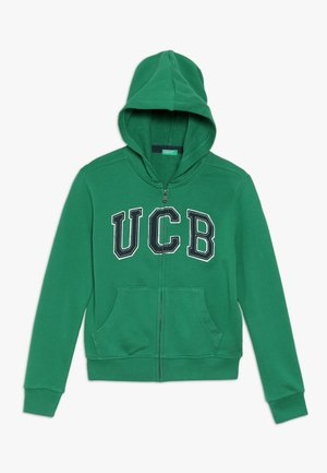 JACKET HOOD - veste en sweat zippée - green