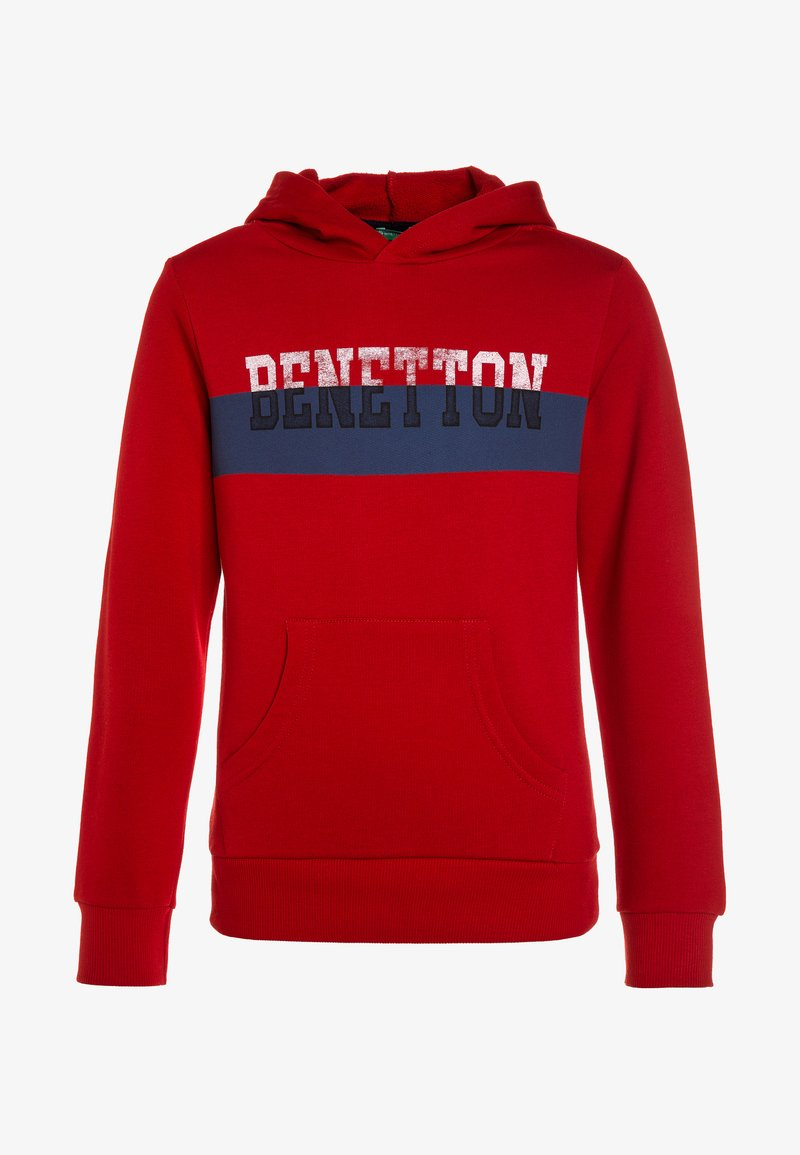 Benetton - HOOD - Sweat à capuche - red