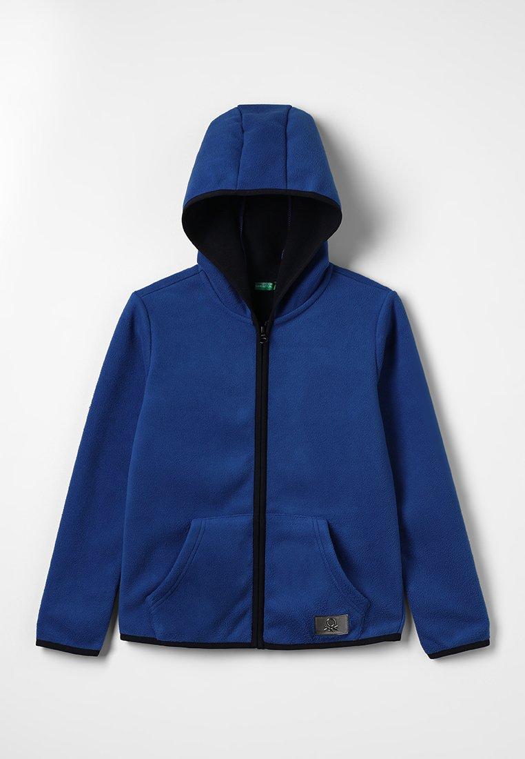 Benetton - JACKET HOOD - Fleecejas - blue
