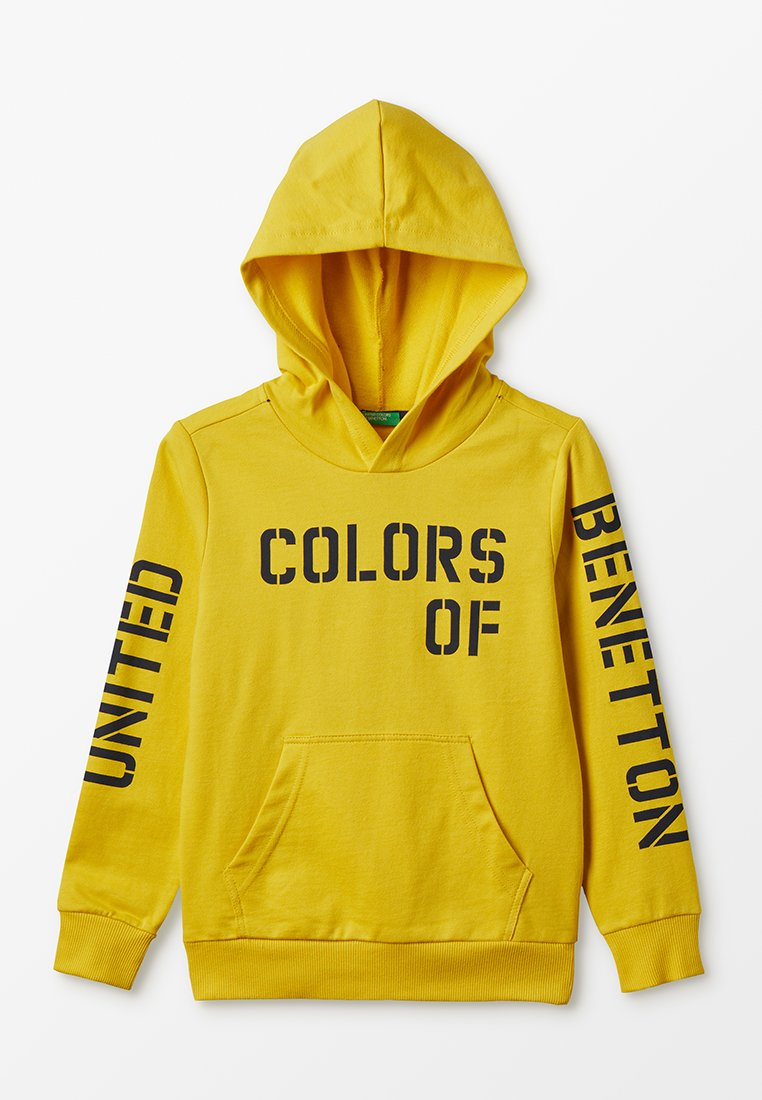 Benetton - HOOD BASIC - Mikina s kapucí - yellow
