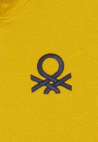 Benetton - Hoodie met rits - yellow - 4
