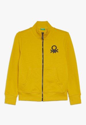 Mikina na zip - yellow
