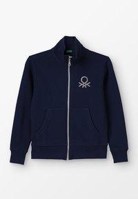 Benetton - Zip-up hoodie - dark blue - 0