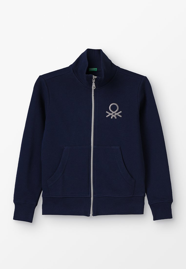 Benetton - Sweatjakke /Træningstrøjer - dark blue