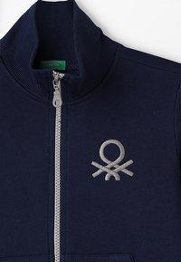 Benetton - Huvtröja med dragkedja - dark blue - 4