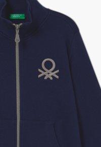 Benetton - Zip-up hoodie - dark blue - 3