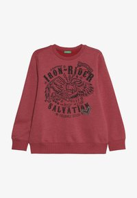 Benetton - SWEATER - Mikina - red