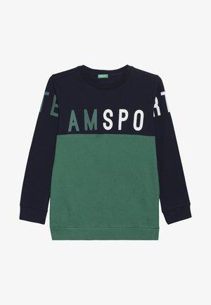 Long sleeved top - blue/green