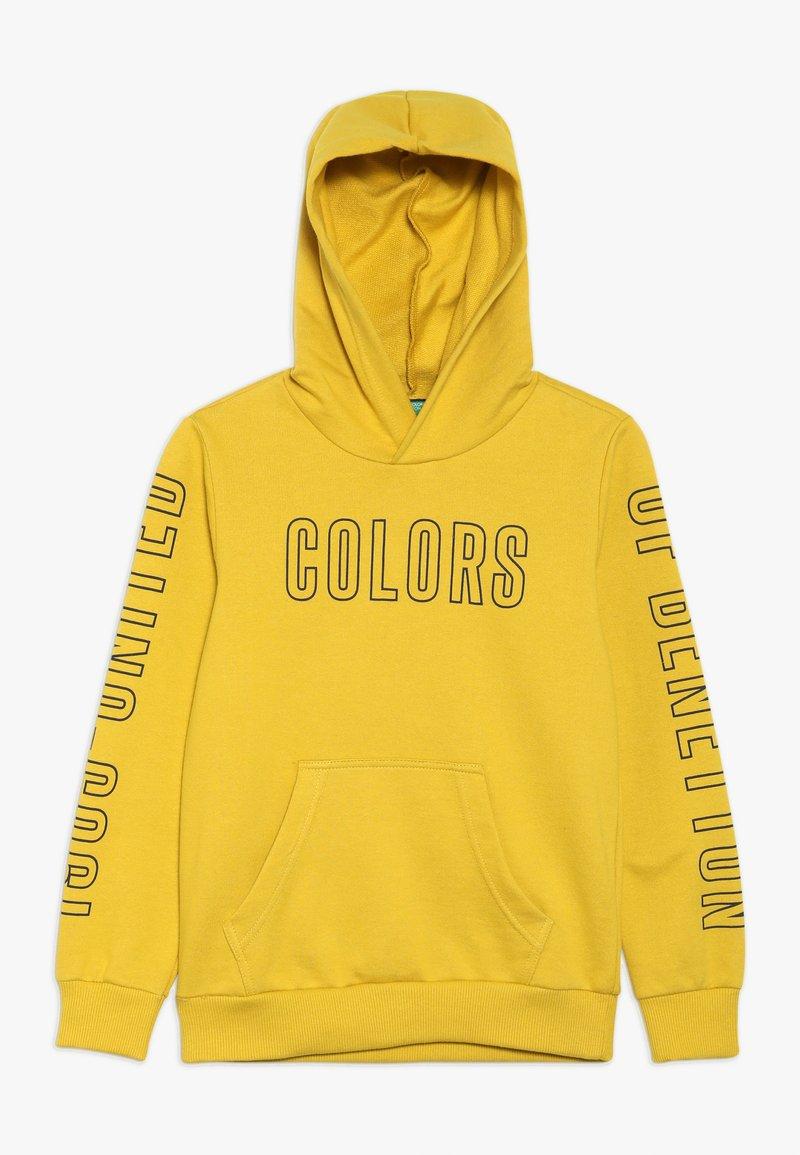 Benetton - SWEATER HOOD - Hoodie - yellow