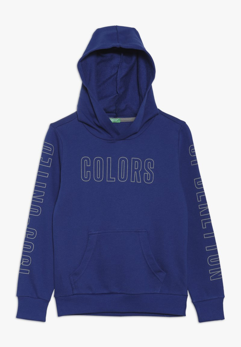 Benetton - SWEATER HOOD - Hoodie - blue