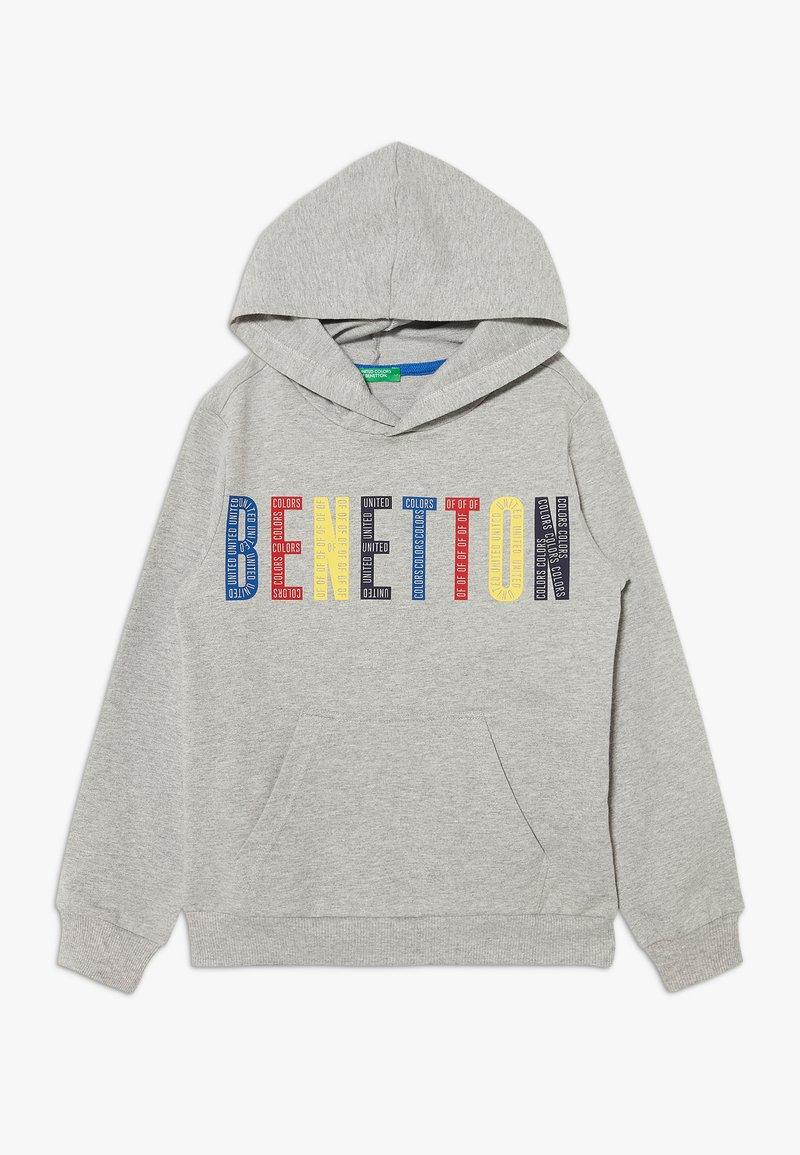 Benetton - HOOD - Bluza z kapturem - grey/red/yellow