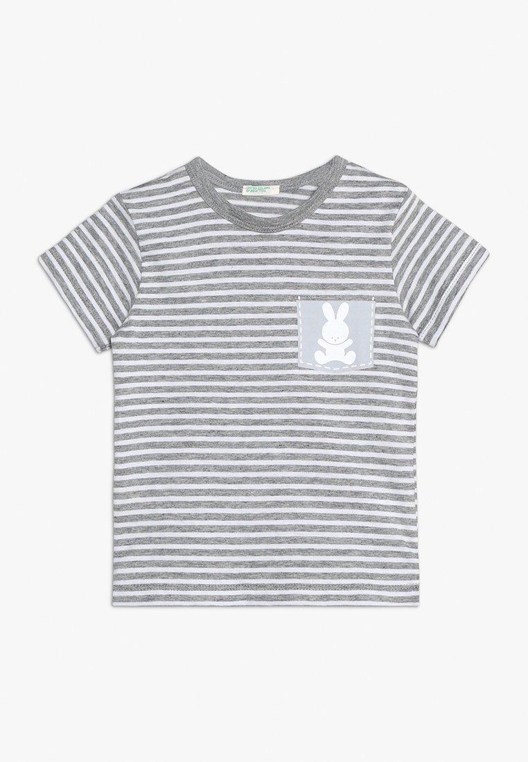 Benetton - T-Shirt print - grey/white