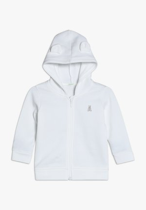 JACKET HOOD BABY - veste en sweat zippée - white