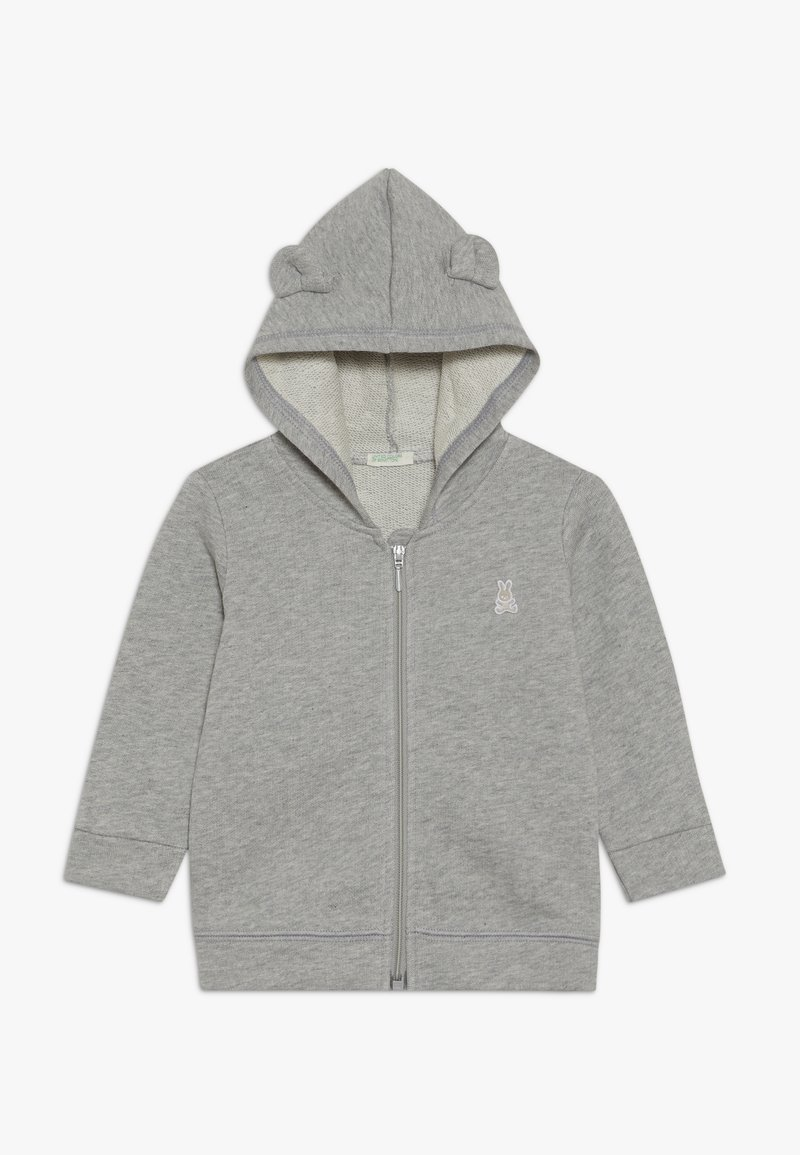 Benetton - JACKET HOOD BABY - Zip-up hoodie - mottled grey