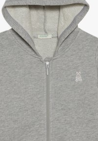Benetton - JACKET HOOD BABY - Zip-up hoodie - mottled grey - 3