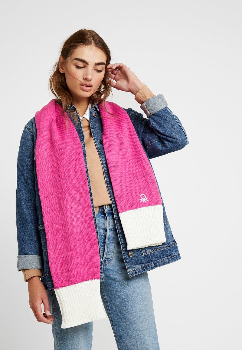 Benetton - Šála - pink/white