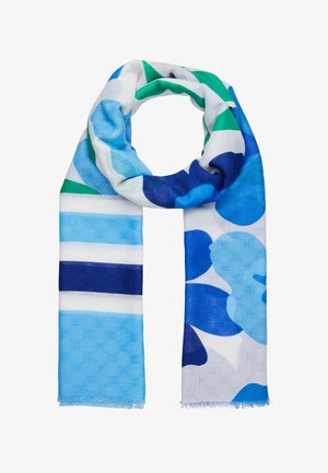 Sjal - blue/white